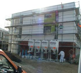 Gebäude im Umbau