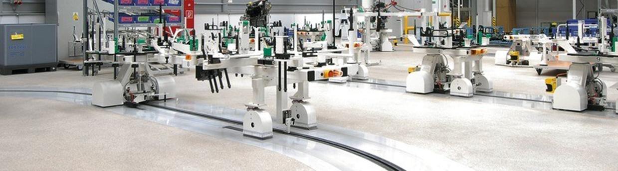 Maschinen beschichten Boden