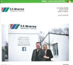 Zeitungsartikel über F.F. Winter